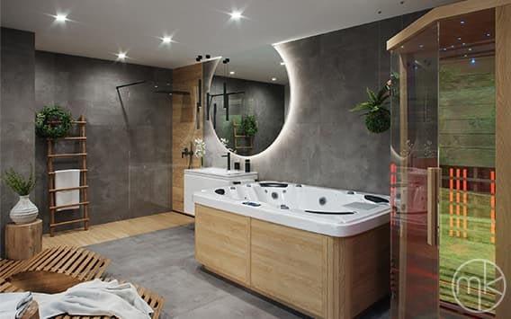 domácí wellness koupelna